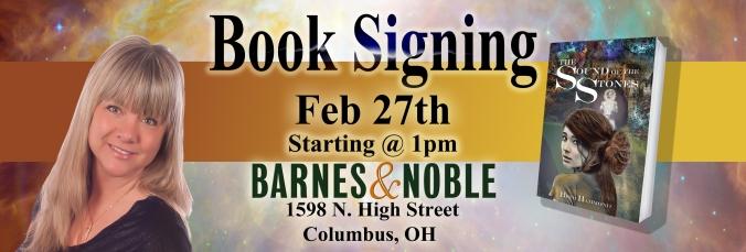 B&N Book Signing banner