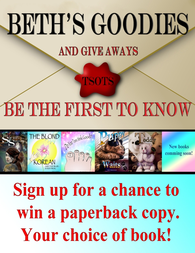 Beth's newsletter signup giveaway